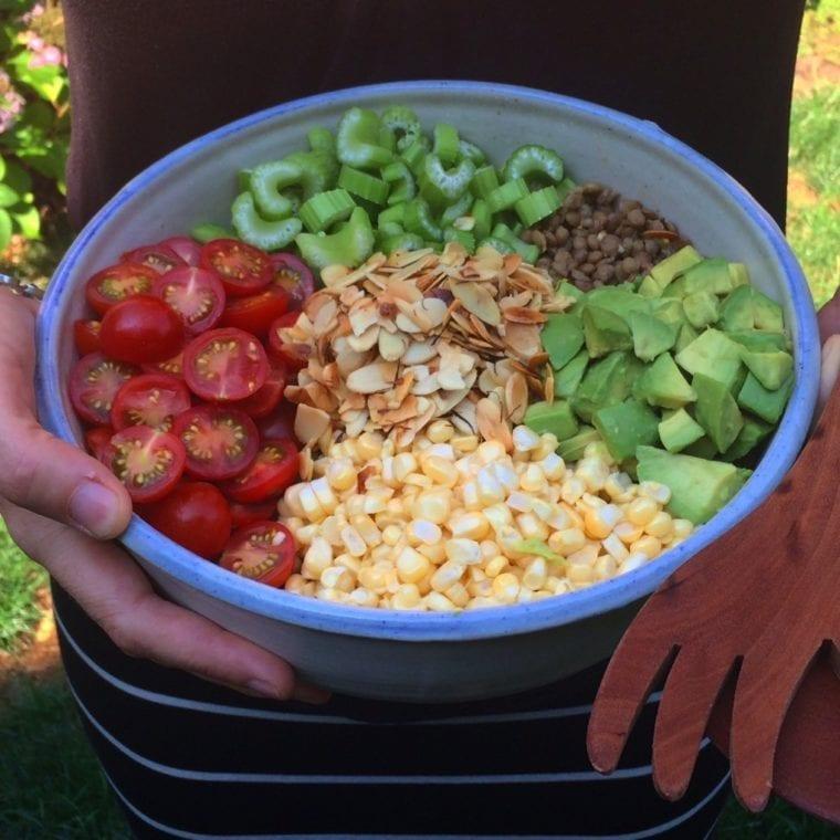 Image of Crunchy Summer Veggie Lentil Salad