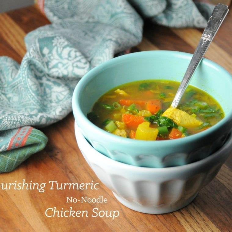 Image of Nourishing Turmeric No-Noodle Chicken Soup