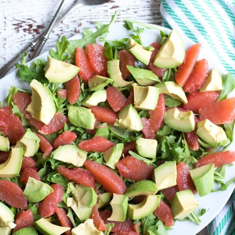 Image of Avocado & Grapefruit Salad with Lemon Chive Dressing