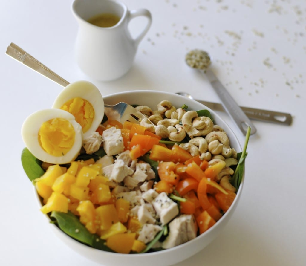 Image of Power Protein Salad with Maple Dijon Dressing