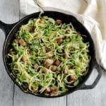 Image of Zoodles with Ham, Peas, and Basil