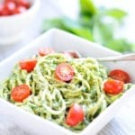 Image of Simple Pesto with Zoodles or Noodles (Nut-Free and Dairy-Free)