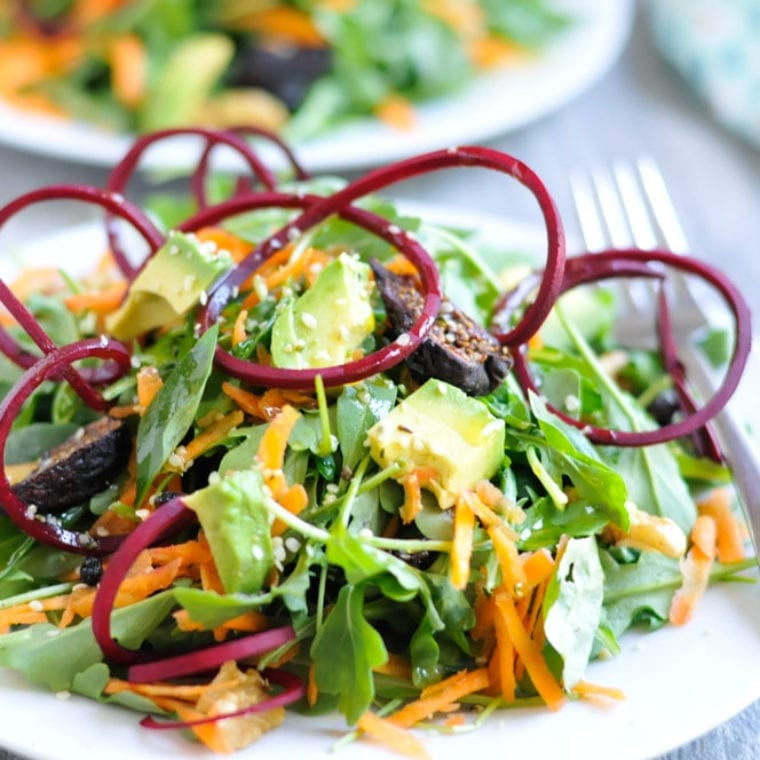Image of Energizing Bliss Salad with Beets, Avocado, and Basil