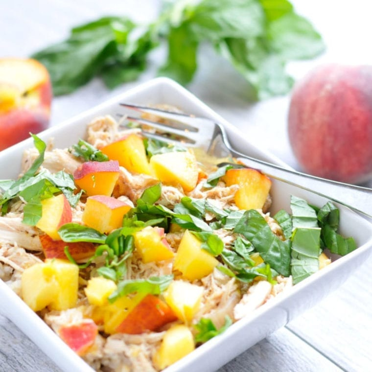 Image of Slow Cooker Peach Chicken with Basil