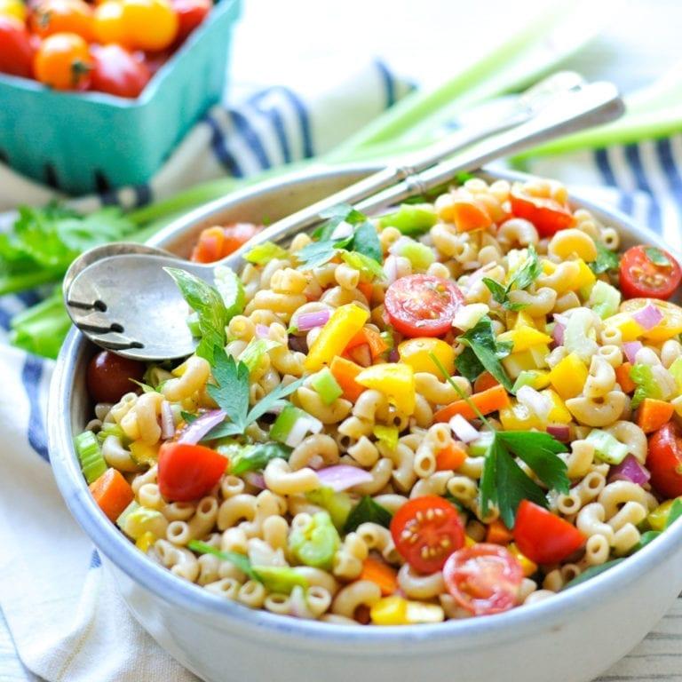 Image of Garden Pasta Salad with Homemade Italian Dressing