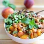 Image of Moroccan Chicken Bowls with Nectarine Sauce