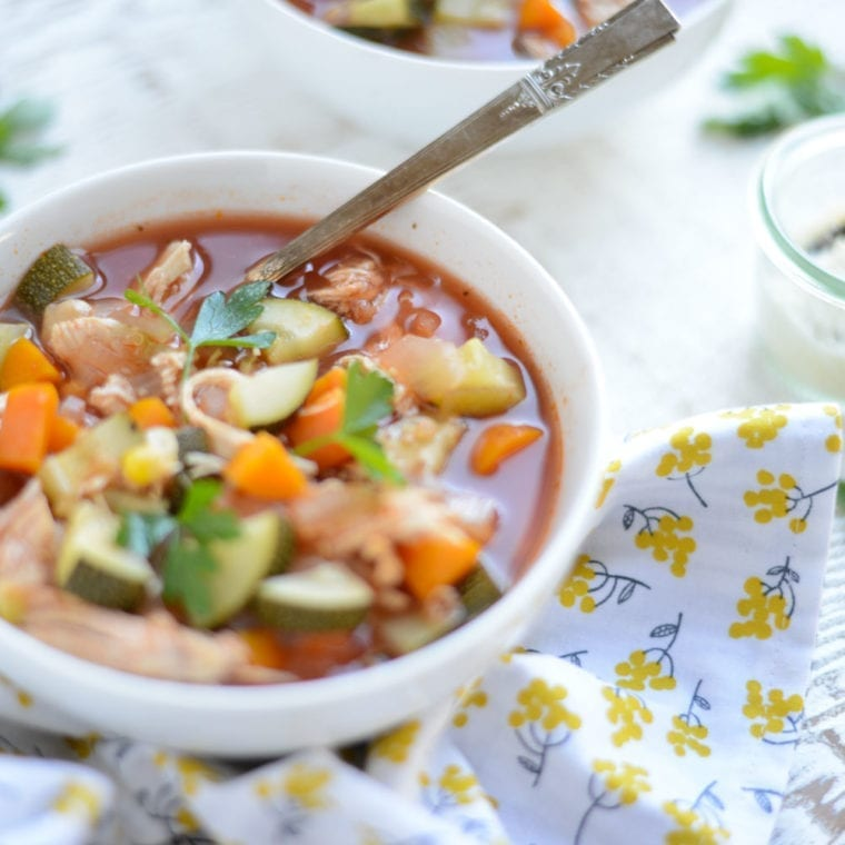 Image of Slow Cooker Chicken, Veggie, and Quinoa Stew