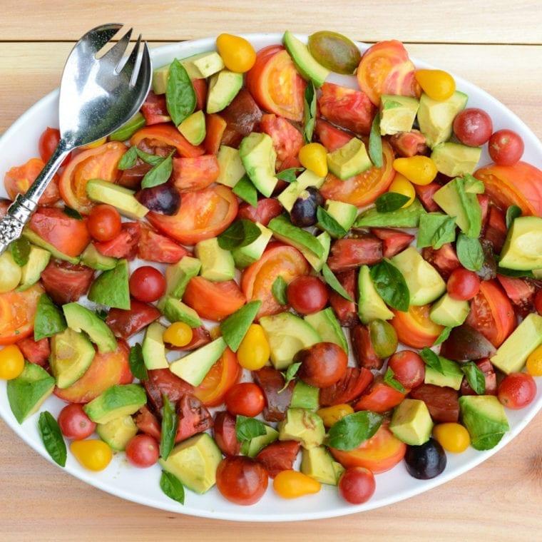 Image of Tomato, Avocado and Basil Salad