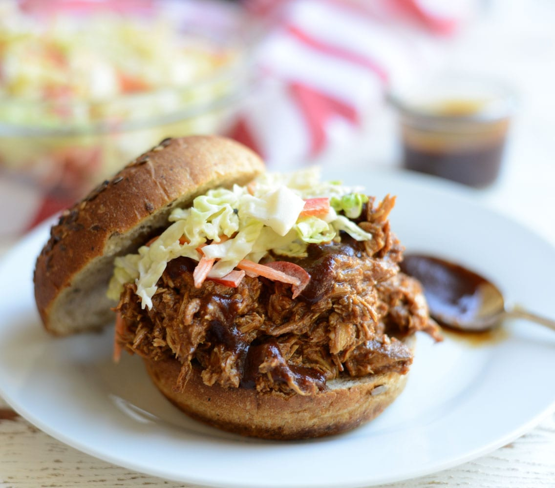 Image of Slow Cooker Pulled BBQ Chicken