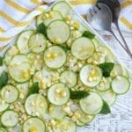 Image of Zucchini, Corn and Sweet Onion Salad with Lemon Vinaigrette