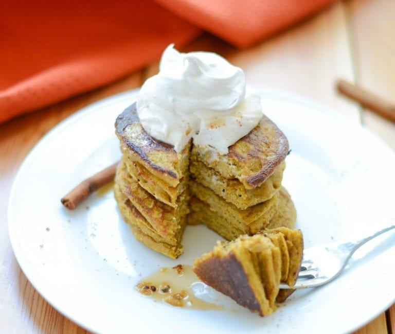 Image of Pumpkin Spice Pancakes (Gluten-Free, Dairy-Free, Nut-Free)