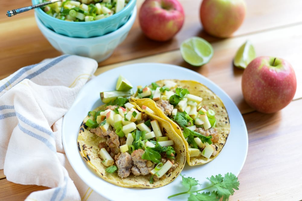 Image of 20-Minute Turkey Tacos with Apple Salsa