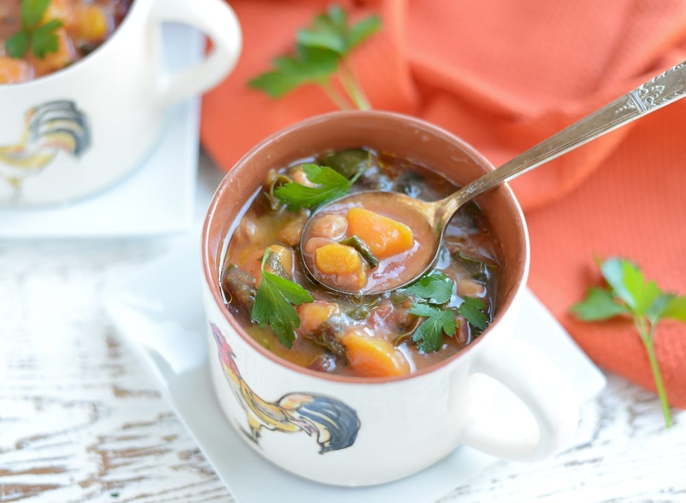 Image of Slow Cooker Autumn Minestrone Soup