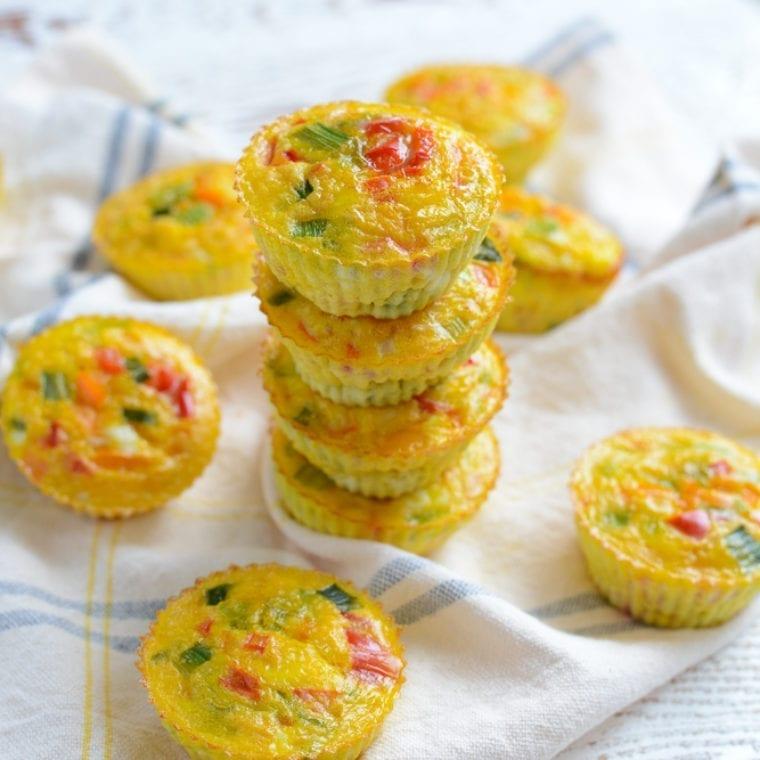 Image of Make Ahead Rainbow Veggie Egg Cups