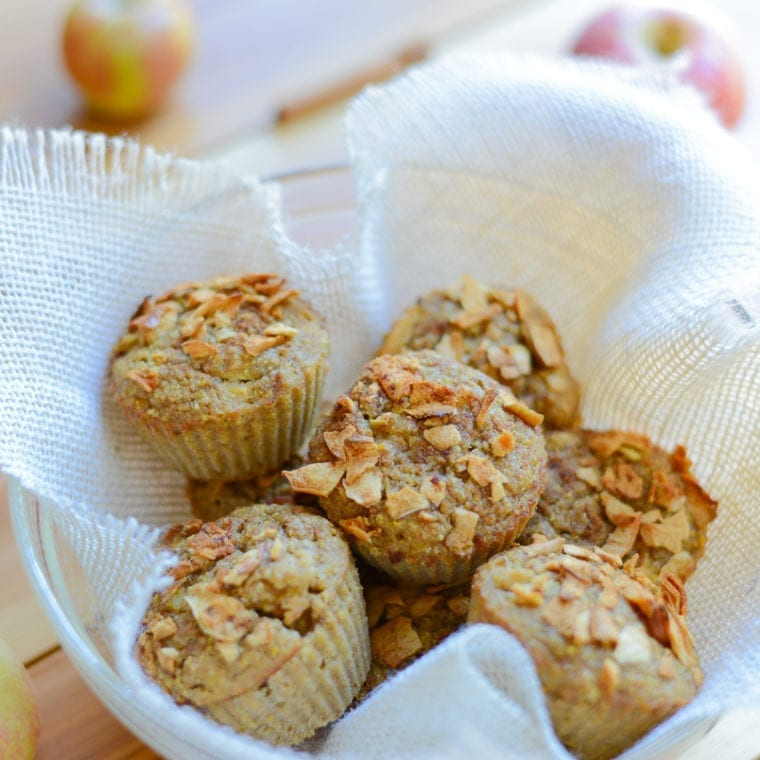 Image of One-Bowl Apple Cornmeal Muffins