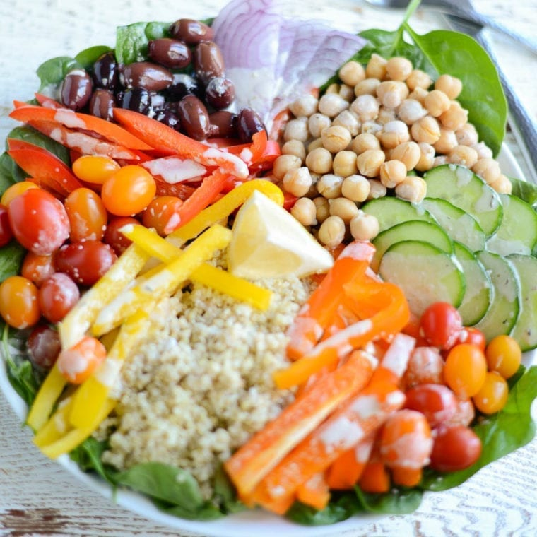 Image of DIY Greek Quinoa Bowl