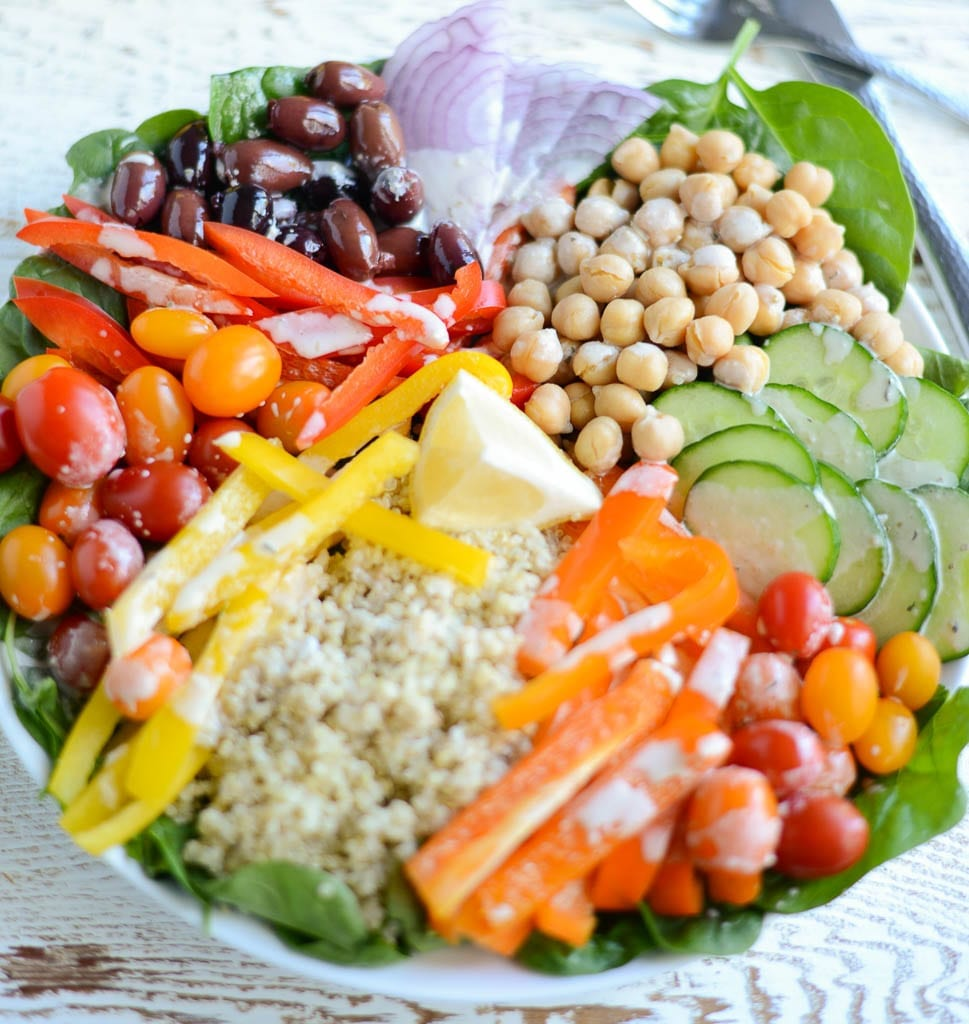 Image of DIY Greek Quinoa Bowl