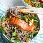 Image of Roasted Citrus Salmon Soba Noodle Bowls
