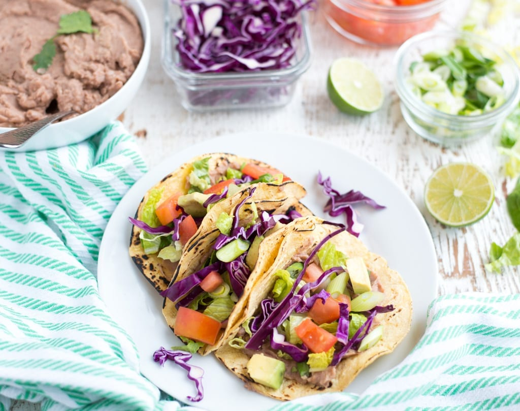 Image of Slow Cooker Refried Bean Tacos