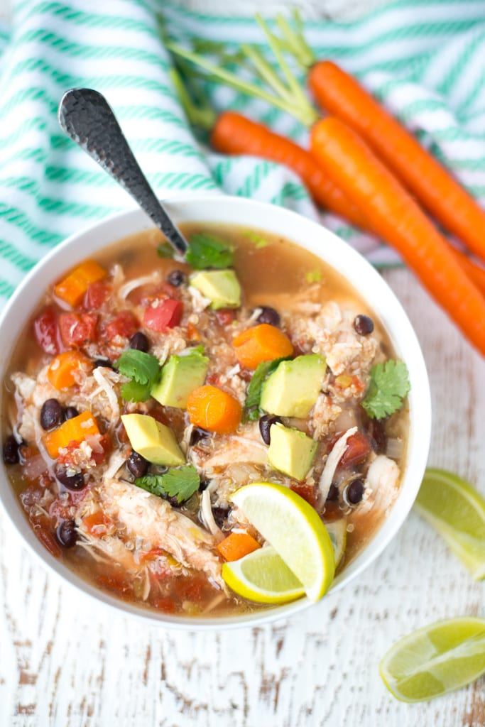 Image of Slow Cooker Chicken, Black Bean, and Quinoa Stew