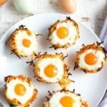 Image of Sweet Potato Hashbrown Egg Nests