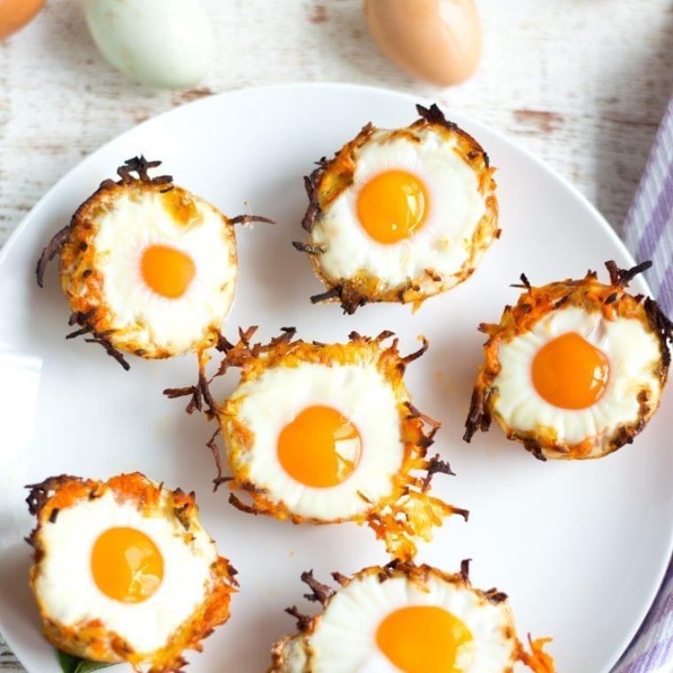Image of Sweet Potato Hashbrown Egg Nests