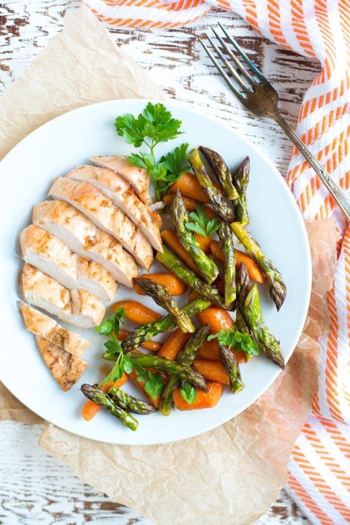 Image of Sheet Pan Balsamic Glazed Chicken and Veggies