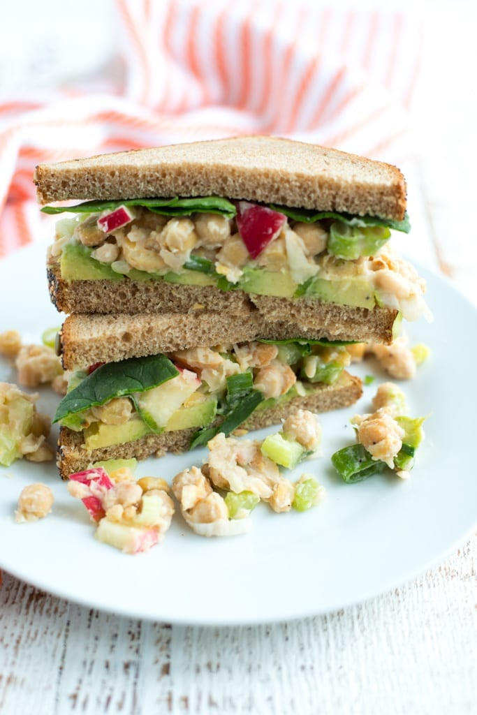 Image of Crunchy Smashed Chickpea Salad (Dairy-Free, Mayo-Free)