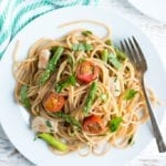 Image of 20-Minute Spaghetti with Chicken and Veggies