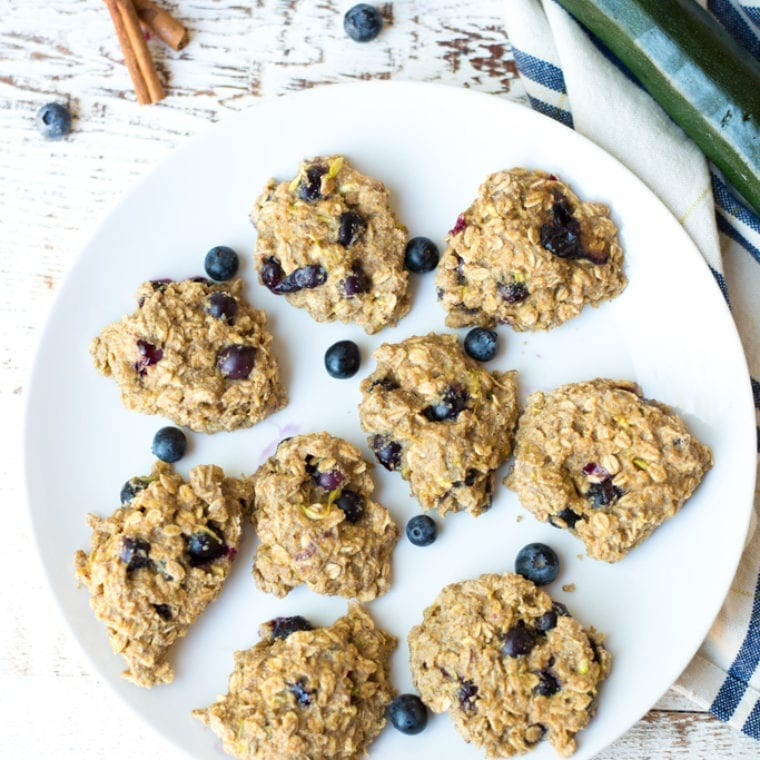 Image of One-Bowl Blueberry Zucchini Muffin Breakfast Cookies