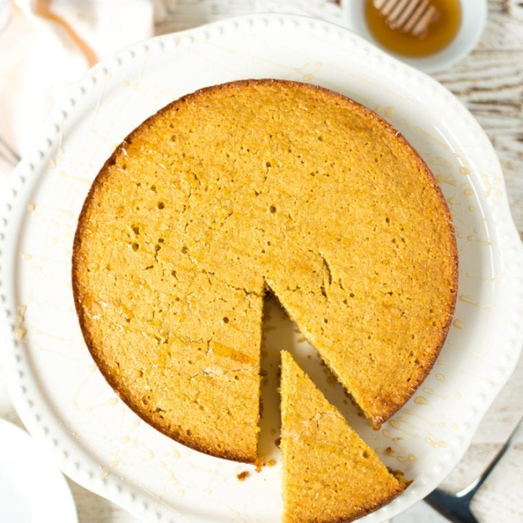 Image of One-Bowl Honey Vanilla Cornmeal Cake