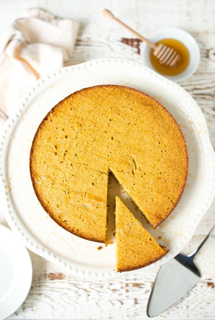 Image of One-Bowl Honey Vanilla Cornmeal Cake
