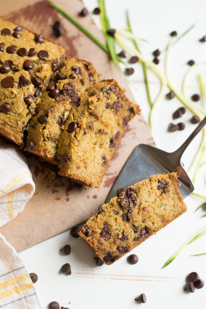 Image of One-Bowl Chocolate Chip Zucchini Bread (Gluten-Free, Dairy-Free)