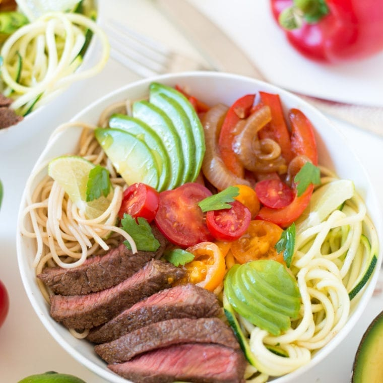 Image of Steak Fajita Noodle Bowls