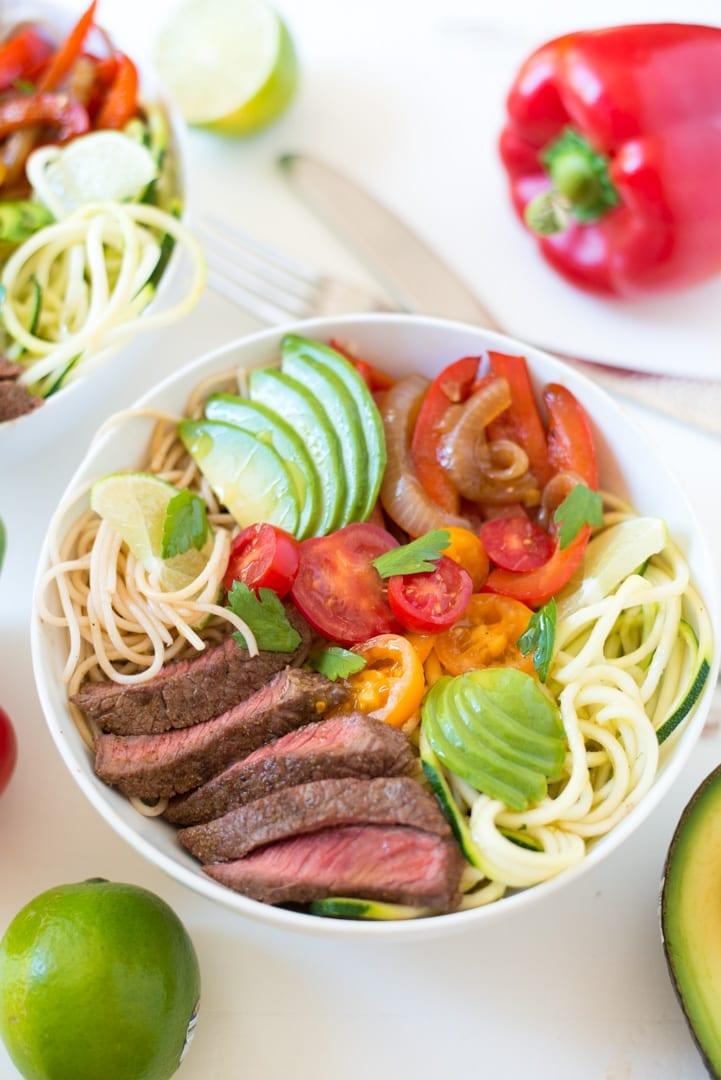 Image of Steak Fajita Noodle Bowls