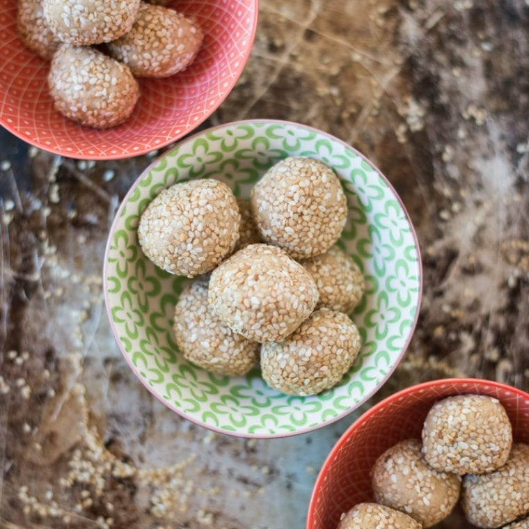 Image of One-Bowl Honey Sesame Energy Bites