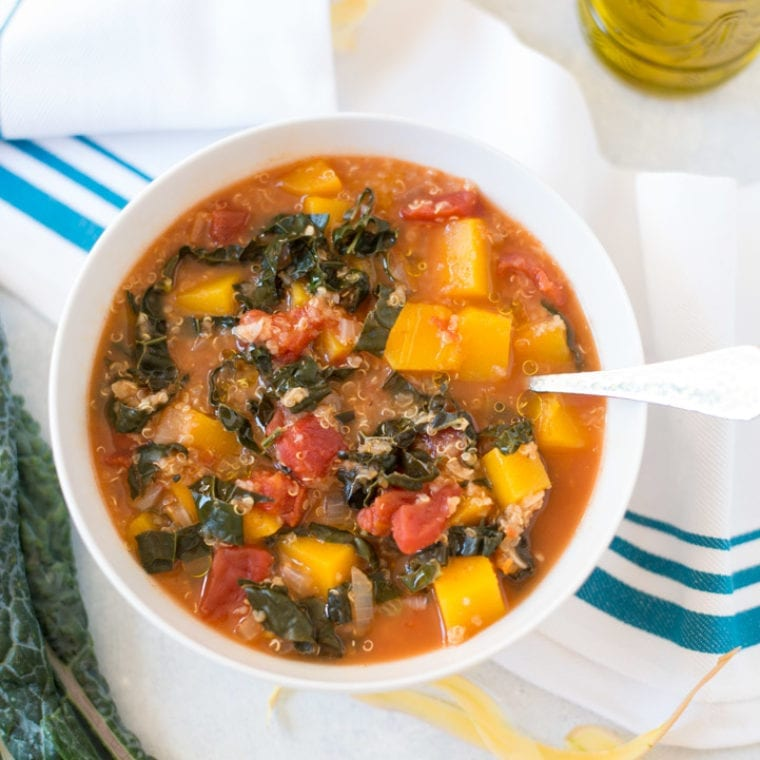 Image of Slow Cooker Butternut Squash, Kale & Quinoa Stew