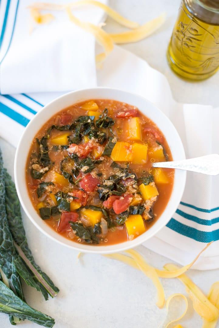 Image of Slow Cooker Butternut Squash, Kale & Quinoa Stew