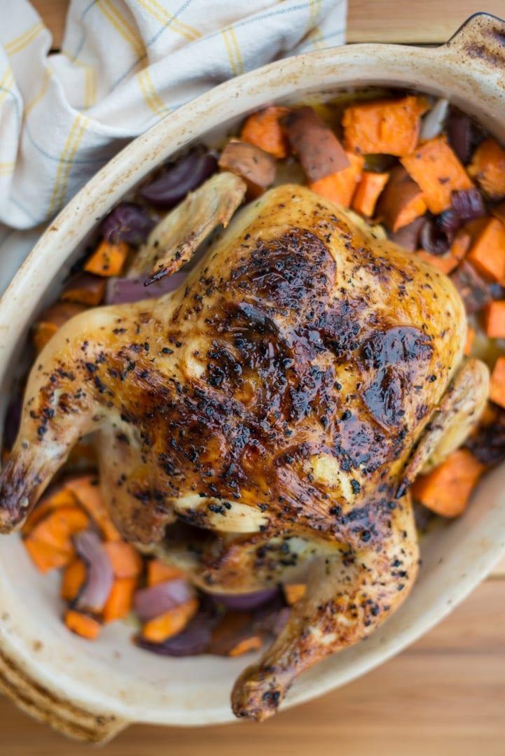 Image of 5-Ingredient Lemon Herb Roast Chicken
