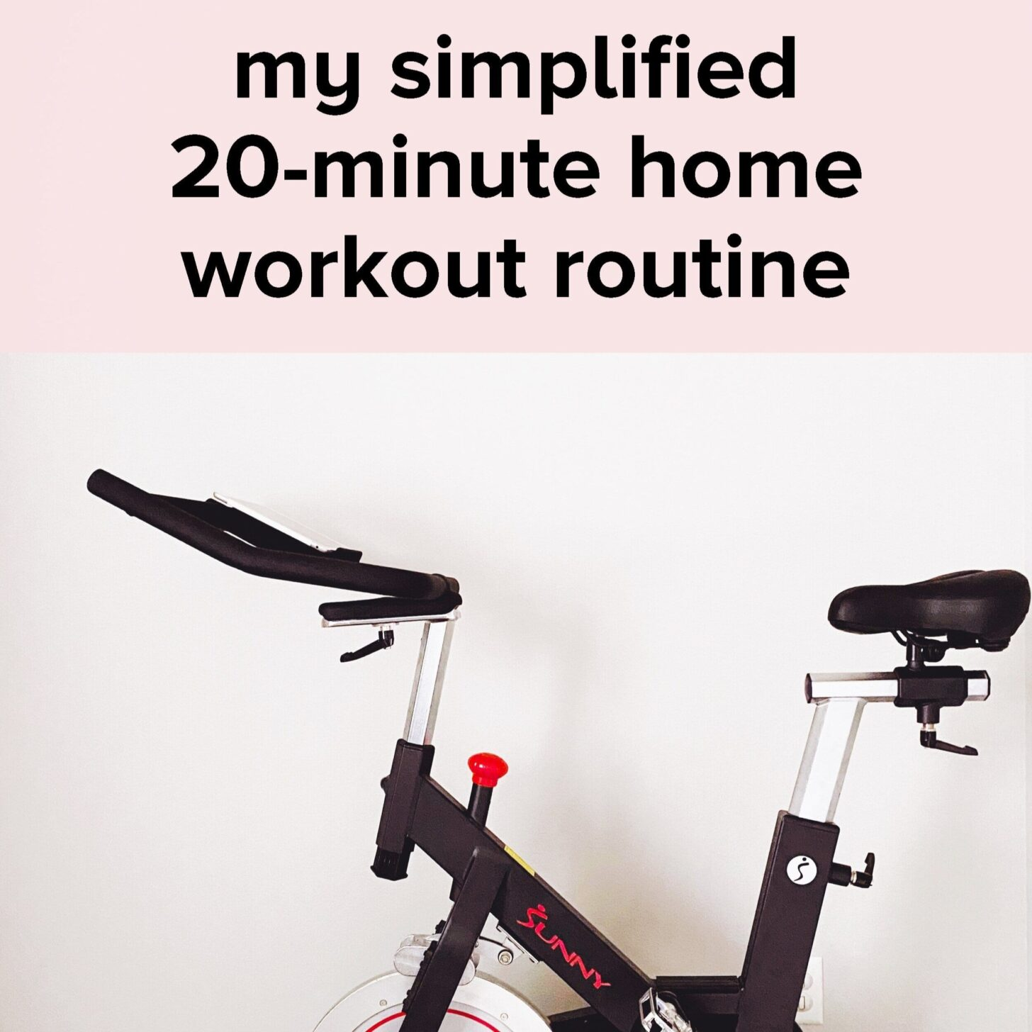 spin bike shown against white wall with post title text