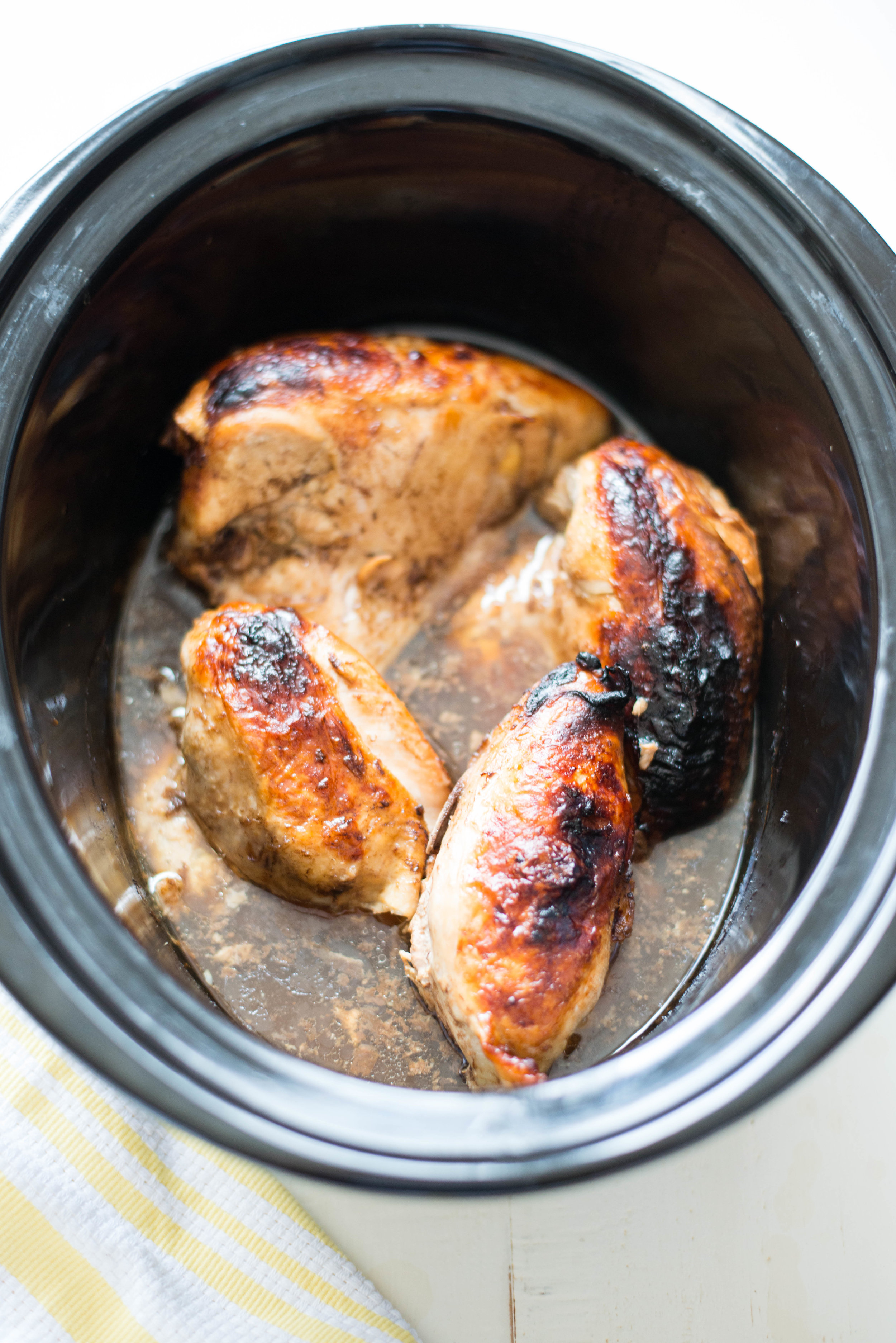 5 Ingredient Slow Cooker Garlic Balsamic Chicken Real Food Whole Life