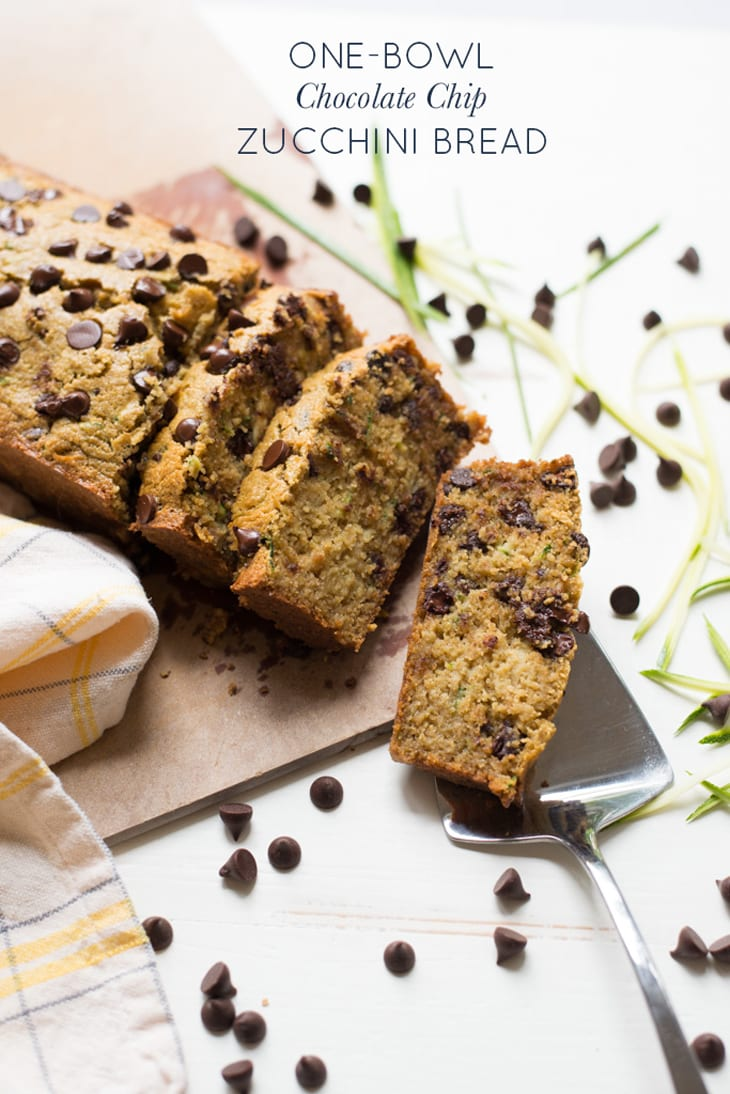 One Bowl Chocolate Chip Zucchini Bread Gluten Free Dairy Free Real Food Whole Life