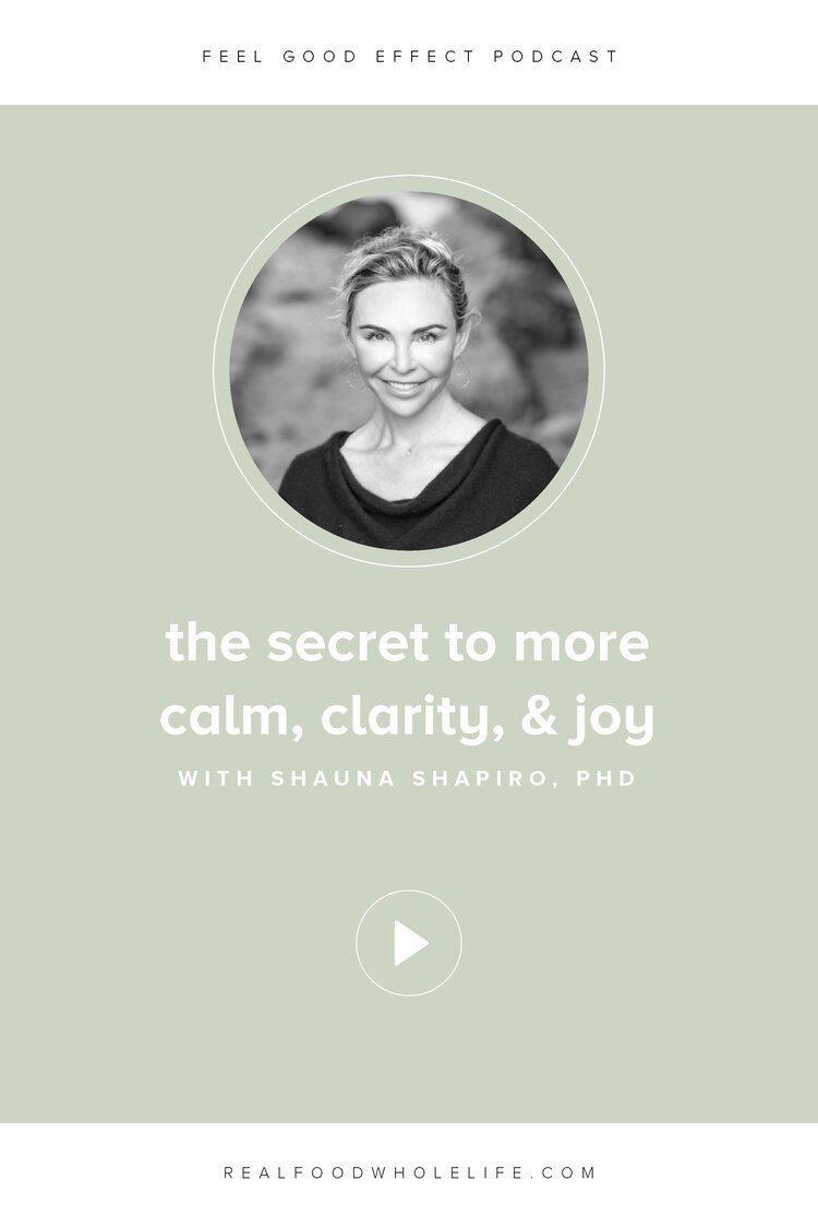 Image of Shauna Shapiro, PhD on the Feel Good Effect Podcast