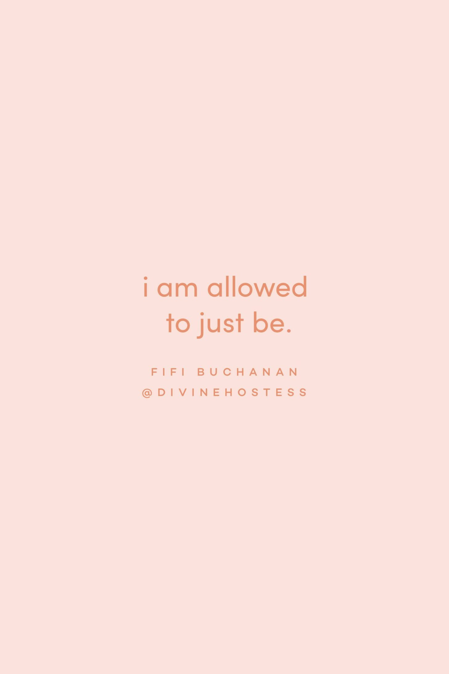 Quote on just being by Fifi Buchanan on the Feel Good Effect Podcast #realfoodwholelife #feelgoodeffectpodcast #positivityquote #motivationalquote #inspirationalquote #humanrightsquote #mindfulnessquote #selfcarequote #selfcompassionquote #selfworthquote