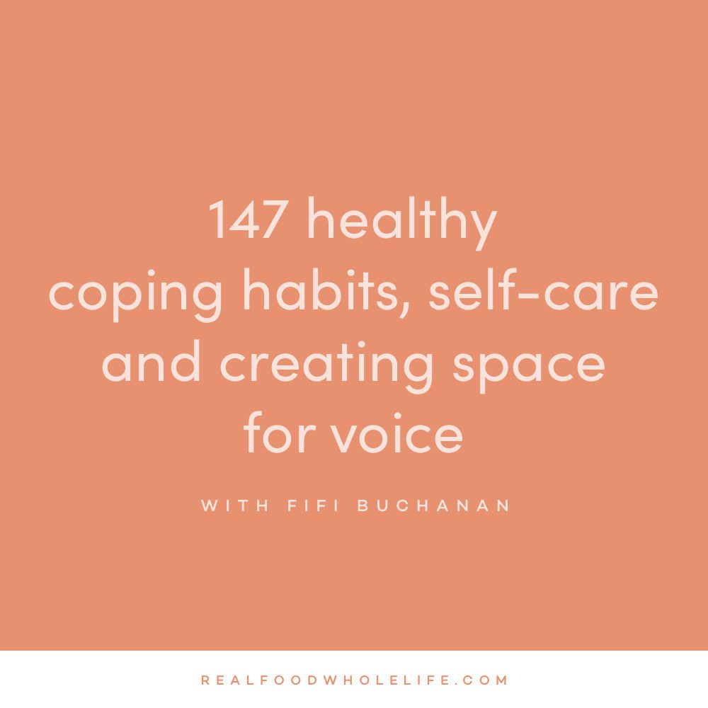 Healthy coping habits, self-care, and creating space for voice with Fifi Buchanan on the Feel Good Effect Podcast