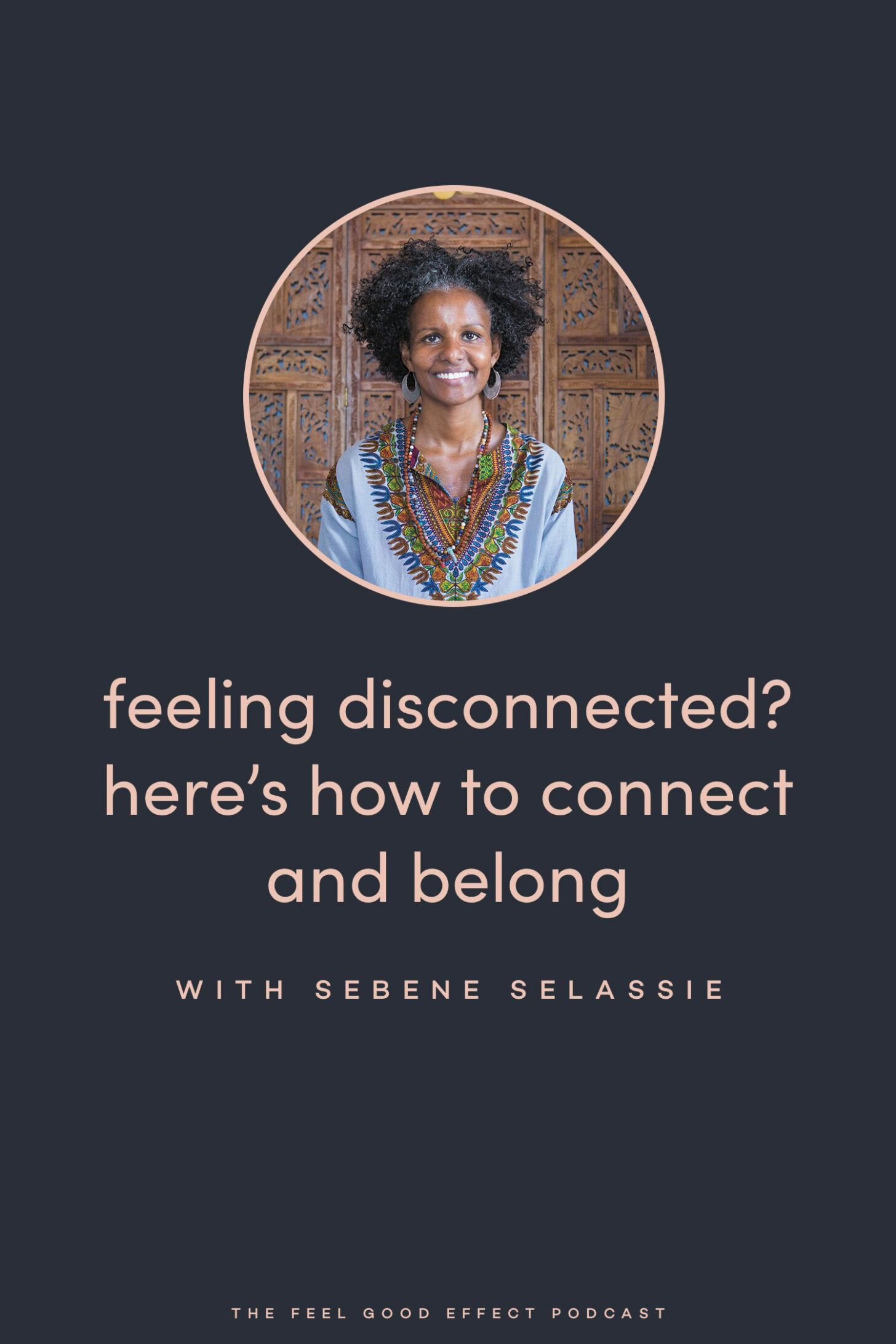 How to connect with Sebene Selassie on the Feel Good Effect Podcast #realfoodwholelife #feelgoodeffectpodcast #connection #belonging