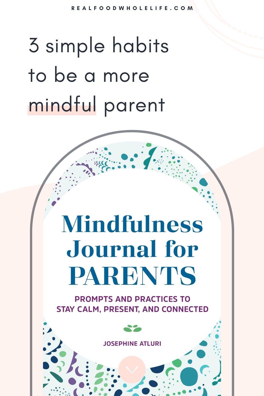 image of mindfulness book by josephine atluri on light pink background