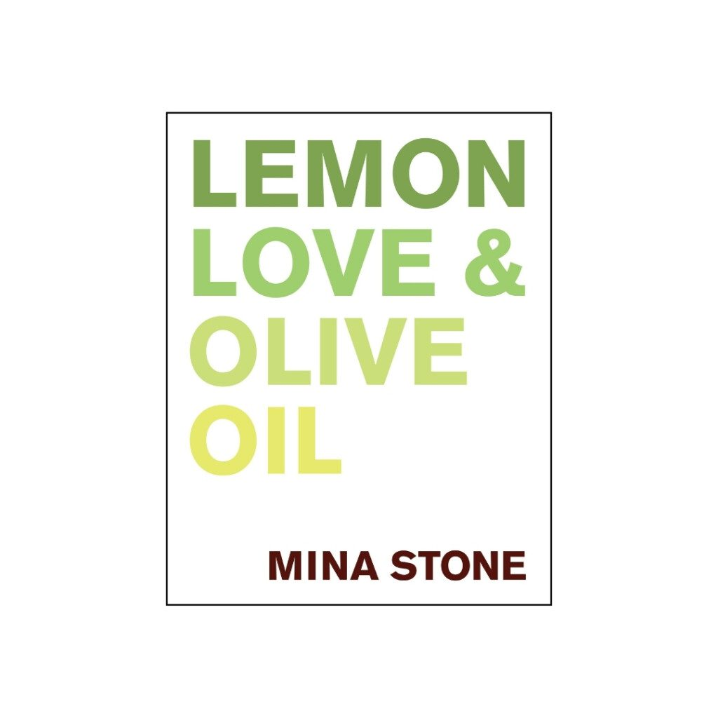 book cover for lemon love and olive oil by mina stone